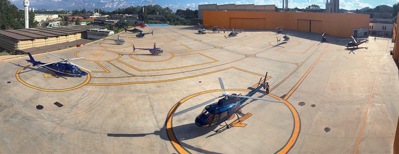 HBR Aviation | Helicopter patio and taxiway